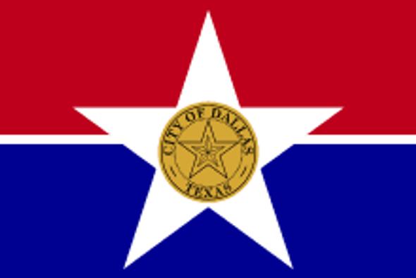 Dallas City Flag 3x5 ft. Economical