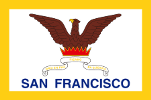 San Francisco City Flag 3x5 ft Economical