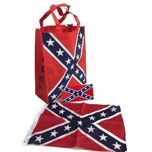 Rebel Bag, Flag and Bumper sticker set