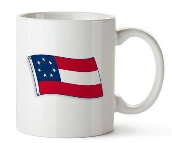 First (1st) National Confederate 7 Star Flag Mug