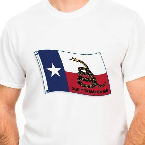 Texas Gadsden Don't Tread on Me T-shirt (5XL)