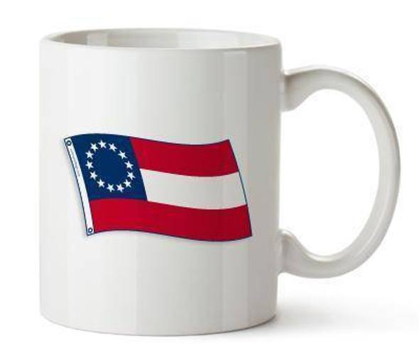 Confederate 1st National 13 Stars and Bars Mug