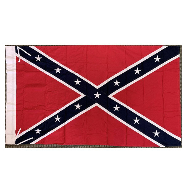 3'x5' Confederate Flag cotton with sleeves and ties