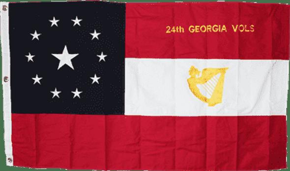 24th Georgia Volunteers Irish Regiment 3 X 5 ft. Cotton