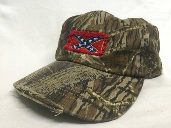 Rebel Camo Cap With Patch