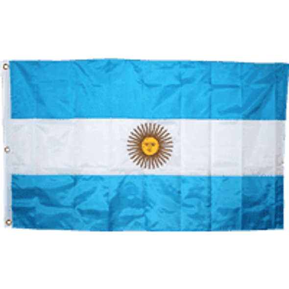 Argentina Flag Nylon Embroidered - Outdoor