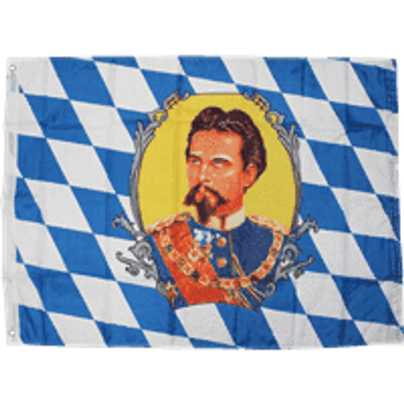 Bavaria King Ludwig II (German State) 3 X 5 ft. Standard