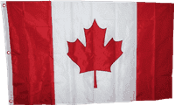 Canadian Flag - 5 X 8 ft. - Nylon Embroidered