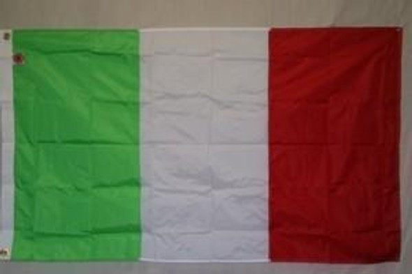 Italy Flag Nylon Embroidered 5 x 8 ft.