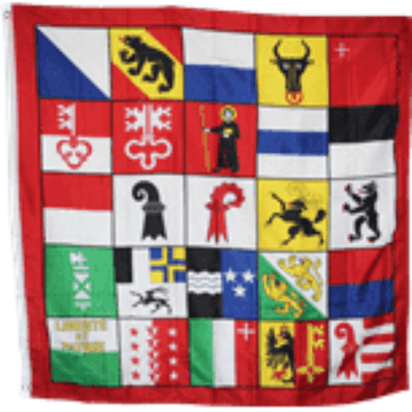 Switzerland 25 Cantons 4x4 Ft Made in USA