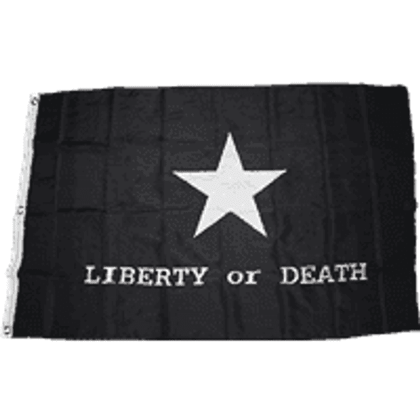 Troutman Tactical Black Liberty or Death Double Nylon Embroidered 3' x 5' Flag