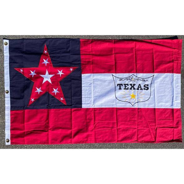 6th Texas Cavalry Cotton Flag 3 x 5 ft.