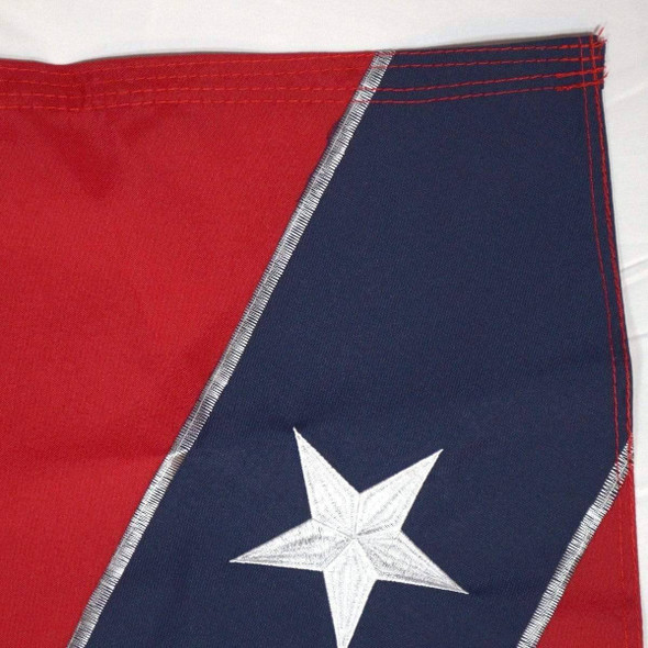 Confederate Flag -  Rebel Flag Nylon Embroidered - Collectors Edition
