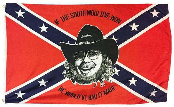 Hank Williams Jr Confederate Flag 3 X 5 ft. Standard