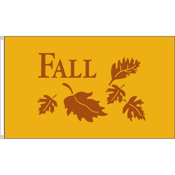 Fall 3 x 5 Nylon Dyed Flag (USA Made)