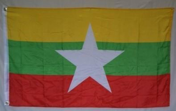 Myanmar (New 2010) (Burma) 3 x 5 ft Flag