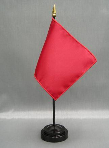 4 Inch X 6 Inch Solid Color Mounted Nylon Flag (Mounted on Plastic Staff)