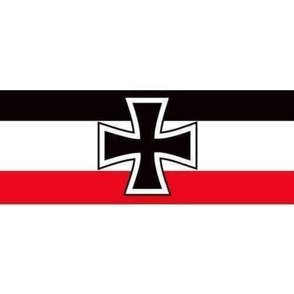 German Army WWII Flag, Historical Flag 3 X 5 ft. Standard With 6 Imperial German Bumper Stickers