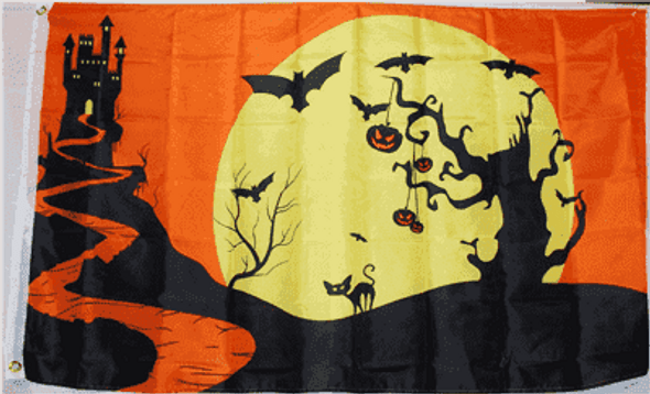 Halloween Night Flag 3x5 ft. Economical