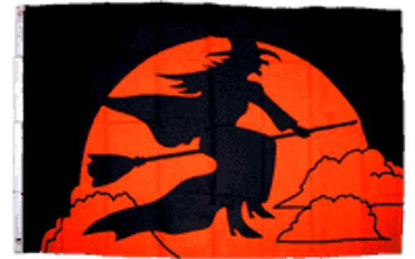 Halloween Witch Flag 3x5 ft. Economical