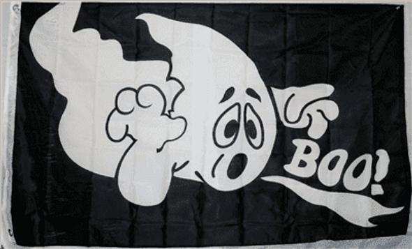 Halloween Boo! 3 x 5 Nylon Dyed Flag (USA Made)