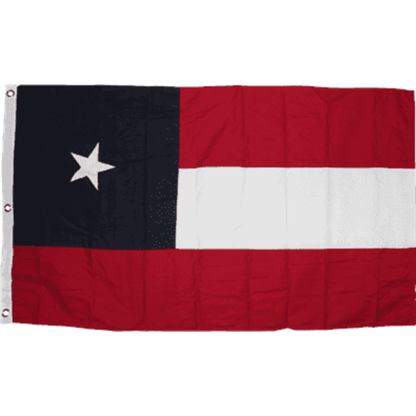 5th Texas Infantry, Hood's Brigade Double Nylon Embroidered Flag 3 x 5 ft.