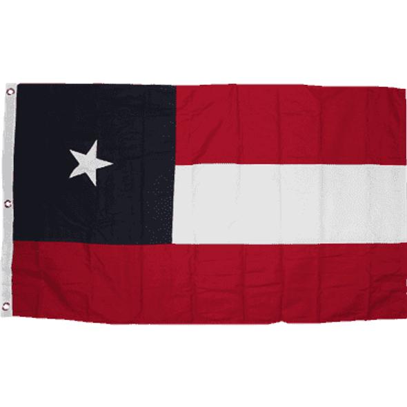 5th Texas Infantry, Hood's Brigade Cotton Flag 3 x 5 ft.