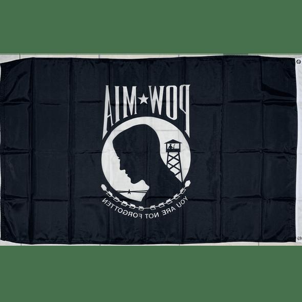 POW MIA Flag - Outdoor -Single Sided Nylon Made in USA