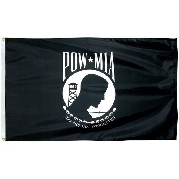 POW MIA 2' x 3' Nylon Dyed Flag (USA Made)