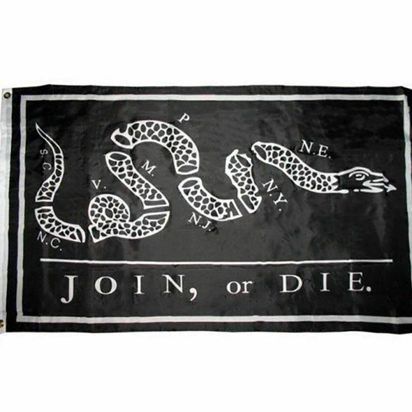 Join Or Die Black Tactical Flag 3x5 ft. Economical