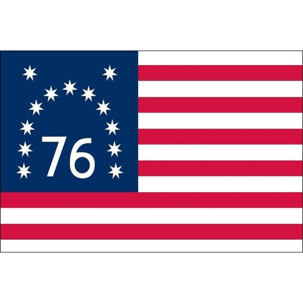 Bennington Flag - Outdoor and Indoor - 76 Nylon Embroidered - Made in America