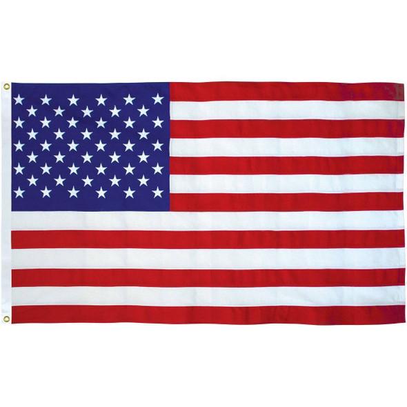 50 Star USA Cotton Embroidered Outdoor Flag  (USA Made)