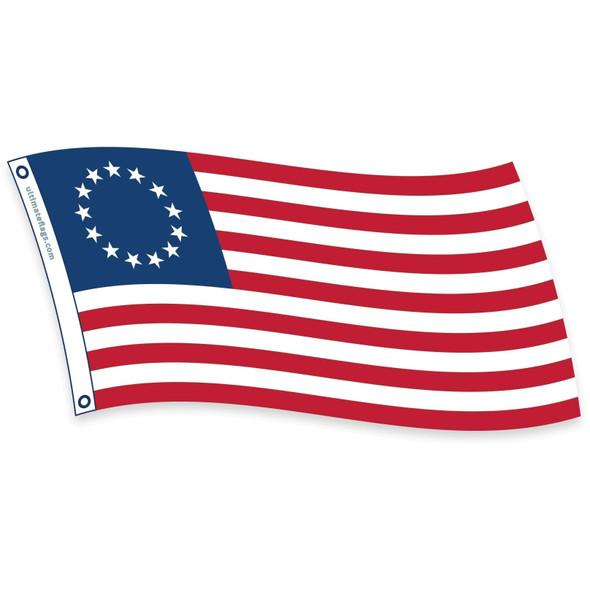 Betsy Ross Flag - USA Made - Outdoor - Nylon Fully Sewn