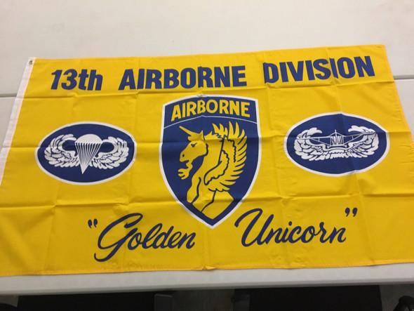"13th Airborne ""Golden Unicorn"" Flag 3 X 5 ft. Standard"