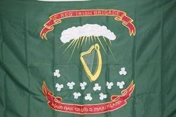 69th Irish Regiment Brigade 2 Ply Nylon Embroidered Flag 3 x 5 ft.