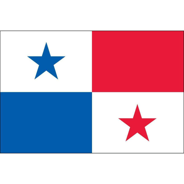 "Panama 12"" x 18"" Nylon Dyed Flag (USA Made)"