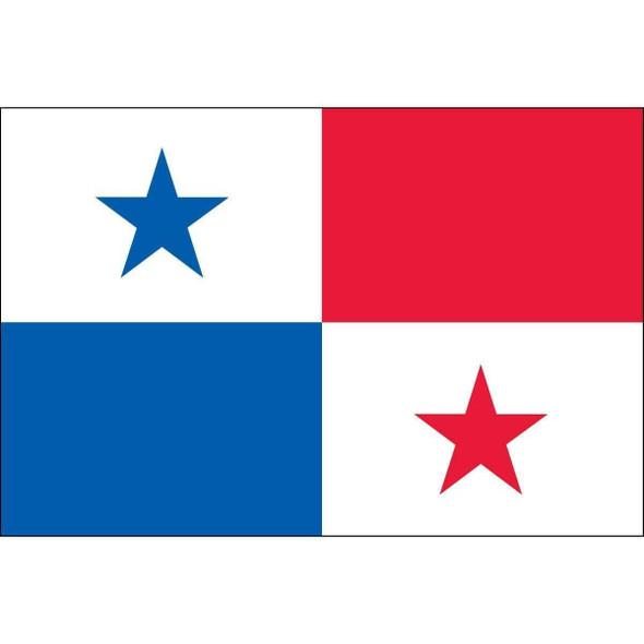 Panama 5 ft x 8 ft Nylon Dyed Flag (USA Made)