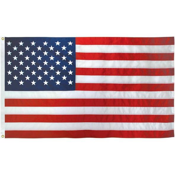 50 Star USA E-Cotton Embroidered Outdoor Flag 5 x 9 1/2 ft (USA Made)