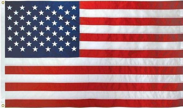 "50 Star USA Cotton Embroidered Outdoor Flag 3' 6"" x 6' 8"" (42"" x 80"") (USA Made)"