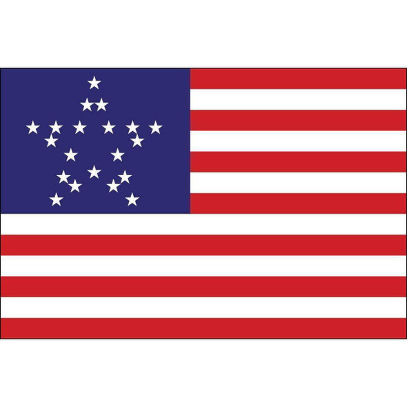 Great Star Flag US 20 Star Flag Nylon 3x5 ft Made in USA