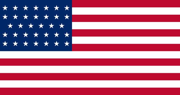 34 Star Linear USA Flag 3x5 Economical