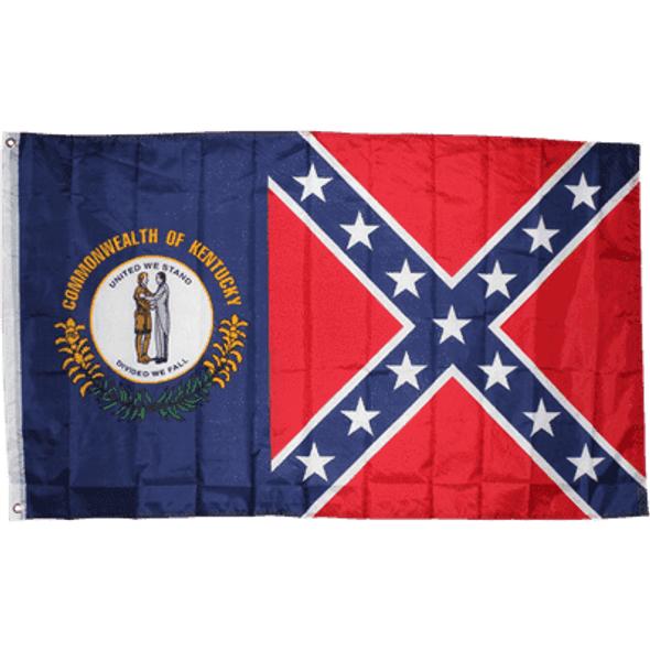 Kentucky Rebel/Battle - Confederate Flag 3x5 ft. Economical
