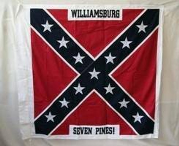 4th North Carolina Infantry, 52 Inch x 52 Inch Cotton Flag with Sleeve and Ties