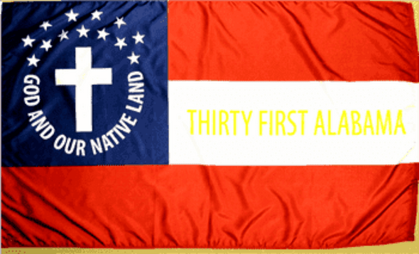 31st Alabama Infantry Cotton Flag 3 x 5 ft.