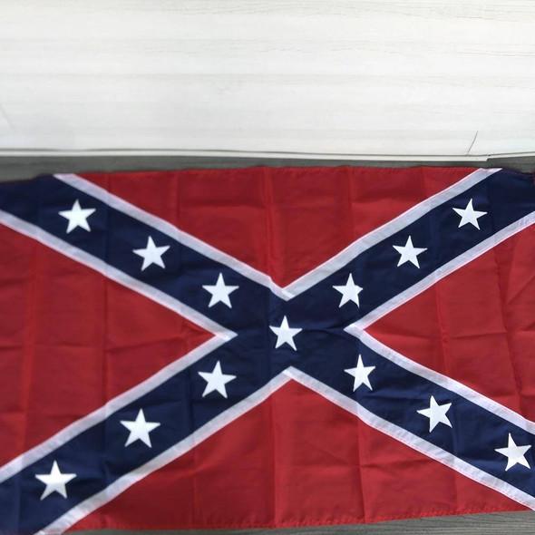 Confederate Battle Flag Sewn & Appliqué Stars Made in USA