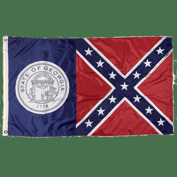 3x5 Georgia Flag 1956 Flag Nylon Old Georgia Flag