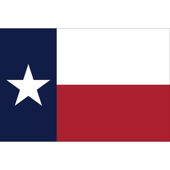 3x5 Texas Flag  3 x 5 Custom Fully Sewn Nylon Flag, Substitute Brick Red and Royal Blue for standard colors (USA Made)