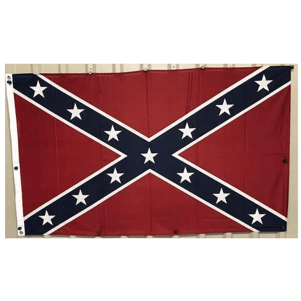 3x5 Rebel Flag - Confederate Battle Flag Knitted Outdoor - Herculite
