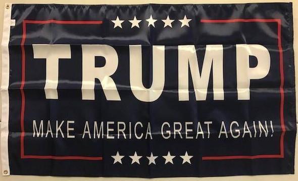 3'x5' Trump Flag Make America Great Again Made in USA