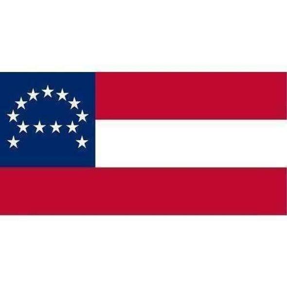 Robert E Lee Headquarters Flag Bumper Sticker